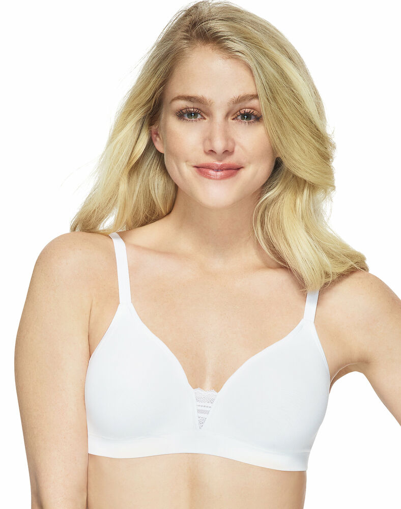 0d234599b0f5f Hanes T-Shirt Unlined Wirefree Bra Ultimate ComfortFlex Fit Soft  Convertible
