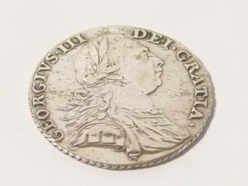 1787 George III Silver Shilling Coin  #A90 *