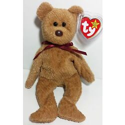 RARE! TY Beanie Babies ''CURLY'' Teddy Bear - MWMTs! RETIRED! PERFECT GIFT! MINT!
