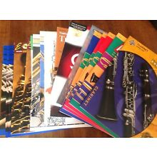 CLARINET SCHOOL BAND METHOD COMP'SIVE INSTRUCTIONAL BOOKS- 14 MISC.TITLES CHOICE