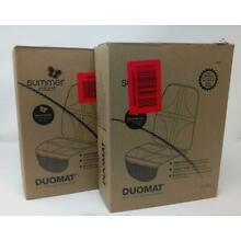 (2 Pack) Summer Infant DuoMat Baby Child Car Seat Protector Mat with Storage