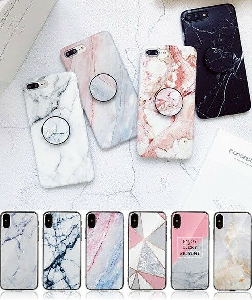 Shockproof Marble TPU Back Gel Case Cover For Apple iPhone 11 Pro 7 8 XS XR Plus