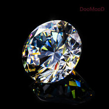 Round D White VVS Simulated Lab Diamond Hearts & Arrows Russian 6AAAAAA Diamond