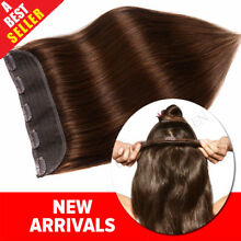 Invisible Clip in Remy 100% Human Hair Extensions 3/4Full Head One Piece US P948