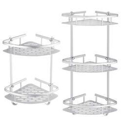 Kyпить 2 3 Layer Bathroom Triangular Shower Caddy Shelf Corner Bath Storage Holder Rack на еВаy.соm