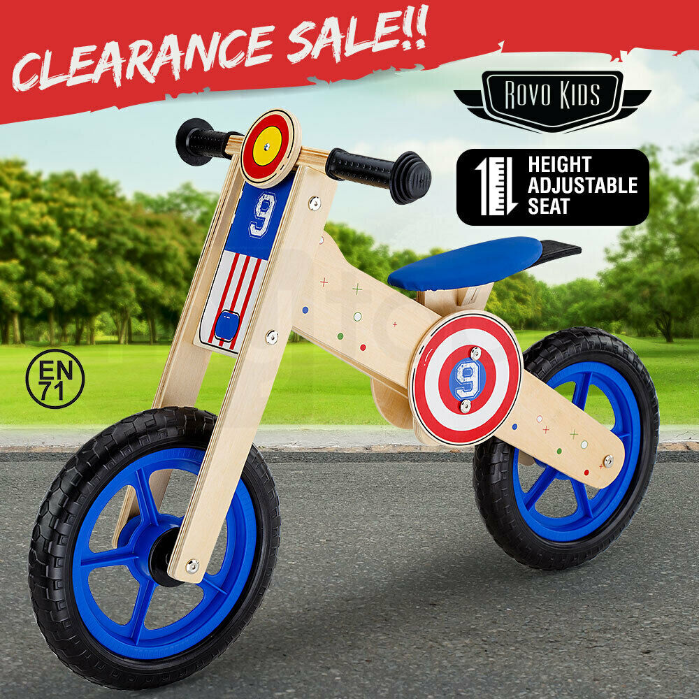 1dfa3ea0b09 Details about NEW ROVO KIDS Wooden Kids Balance Bike Ride On Toy Push  Bicycle Trainer Outdoor
