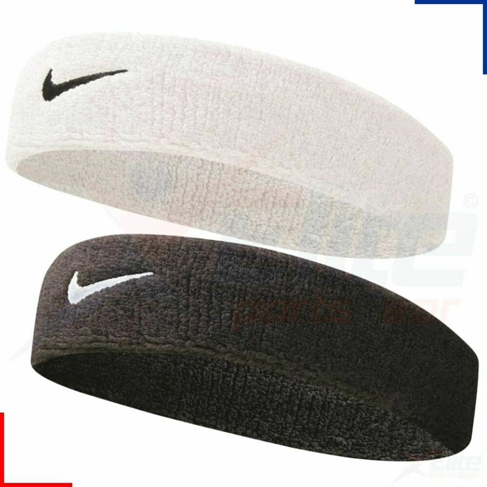 Details about Nike Swoosh Headband Sweat Band Head Band Sports Tennis  Running White or Black 21ec766b984