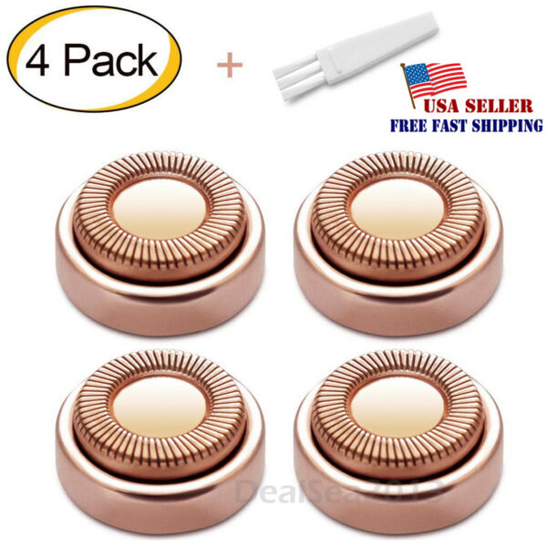 For Flawless Hair Remover 4pcs Replacement Heads Count Replacing Blades Cleanin