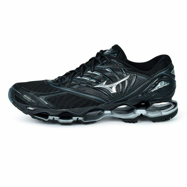 Details about Mizuno Wave Prophecy 8 Men Running Shoes J1GC190004 Black  Silver 18N fc16d5135bf76