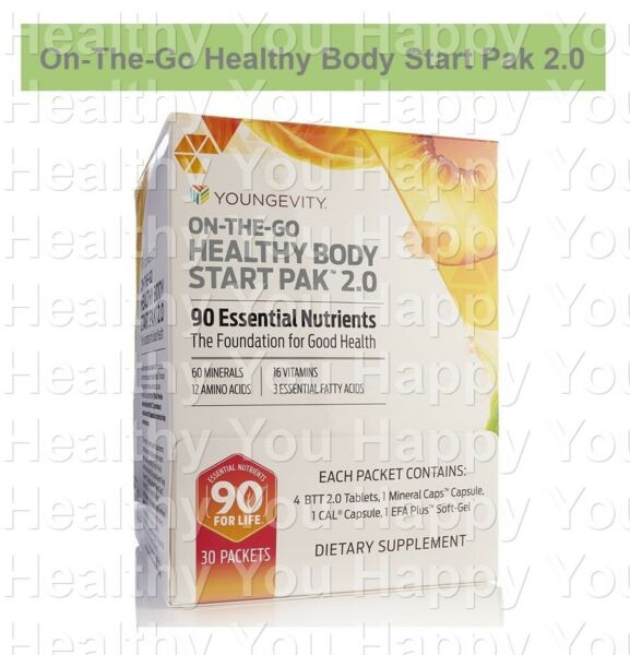 On The Go Healthy Body Start Pak 2.0 (30 packets) Youngevity