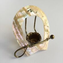 Rare Victorian Mother of Pearl THIMBLE HOLDER