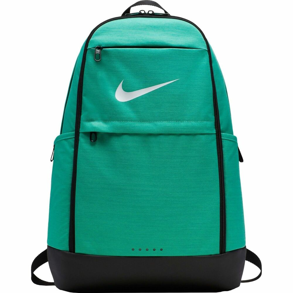 b67788ae8c5 Details about Nike Brasilia Training Backpack XL Kinetic Green Black with  Laptop Sleeve
