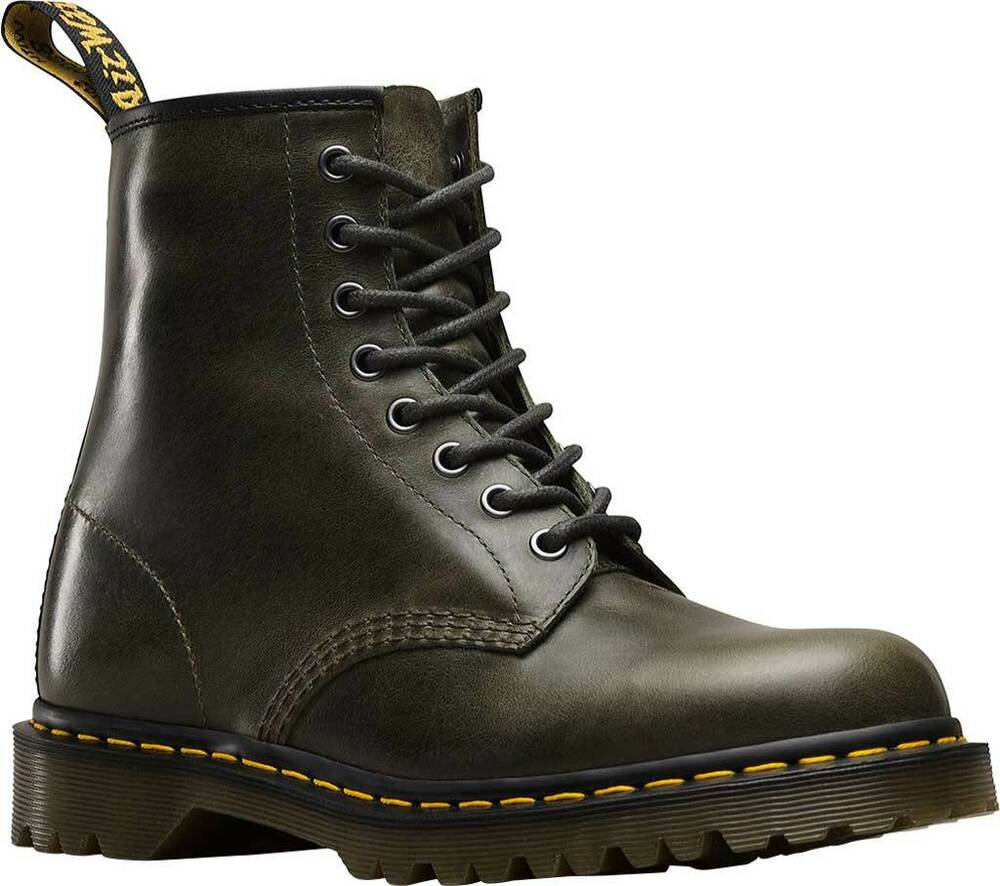 f9cada3b4c07a DR. MARTENS 1460 ORLEANS DARK TAUPE TEXTURED LEATHER BOOTS 23167302 NEW!