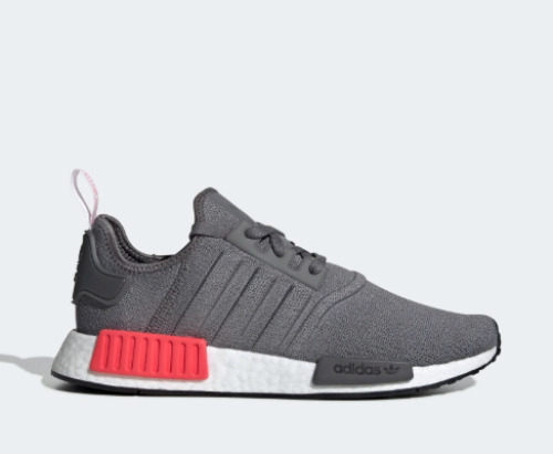 New Adidas Men s Originals NMD R1 Boost Shoes (BD7730) Grey Grey-Shock Red   0b15f0b93