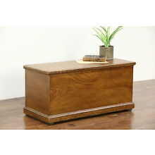 Trunk, Blanket Chest or Coffee Table, Grain Painted Pine 1850's Antique