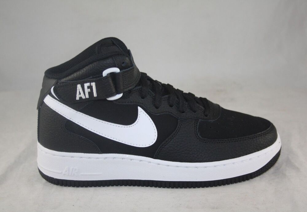 free shipping f76c0 f468c Details about NIKE AIR FORCE 1 MID (GS) 314195-038 BLACK WHITE GREDE SCHOOL  SIZE 6