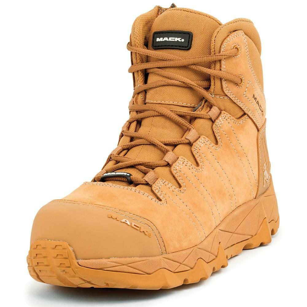 Details about NEW MACK Octane Honey Leather Work Safety Boots Side Zip  Composite Toe Lace Up cf4af5acda29