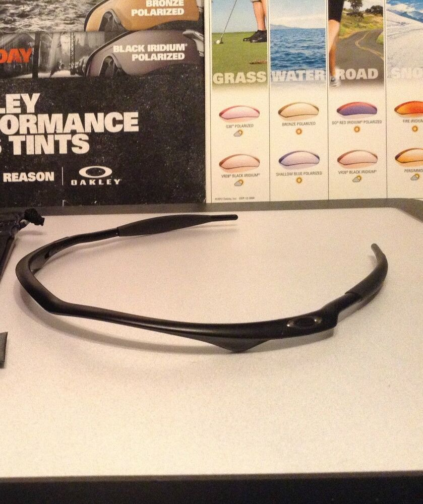 e488d775aa2 Details about Oakley M Frame Matte Black w  Gunmetal Oakley Icons - New W   USA Microfiber Bag
