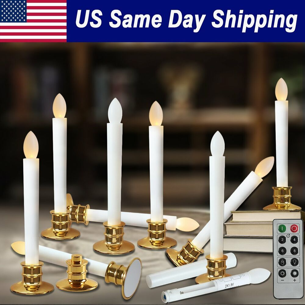 Led Taper Candle Light Electric Flameless Battery Operated Candle W