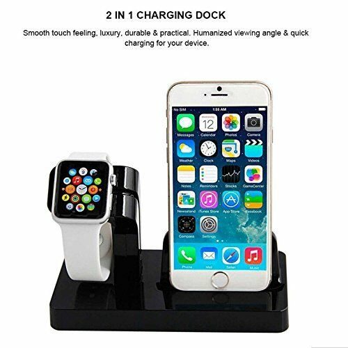 newest collection 39555 f81c3 Charging Dock Stand Charger Holder For Apple Watch iWatch iPhone 7 Plus LOT  AU8 | eBay