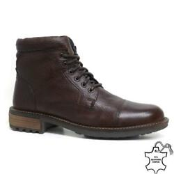 Mens Leather Boots New Smart Formal Army Military Combat Ankle Boots Shoes Size