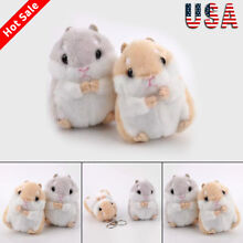 Cute Trinket Mini Hamster Plush Pendant Toy Doll Car Key Ring Key Chain Fashion