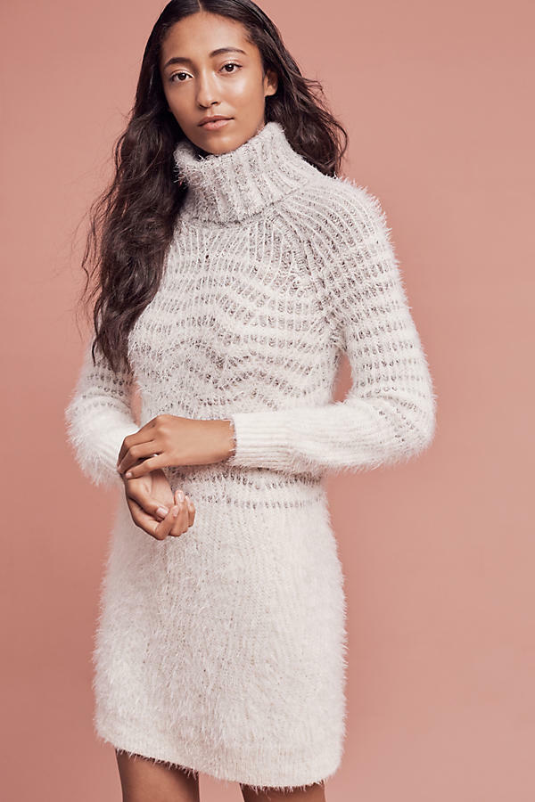 2ec10960cea Details about NWT Anthropologie Eyelash Sweater Dress by Sleeping on Snow