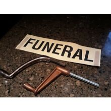 2 Casket Coffin Locking Key Crank Handles and FUNERAL window tag