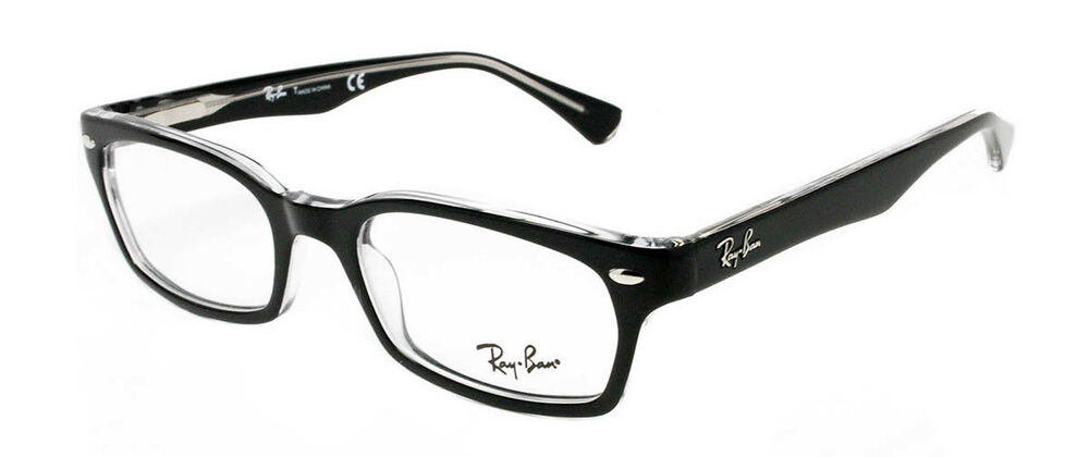 749dfaed376 Details about NEW AUTHENTIC RAY BAN RB 5150 2034 Black Transparent Unisex  Eyeglass 50mm 19 135