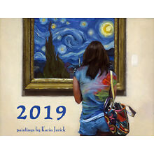 KJurick 2019 Mini-Wall Calendar featuring 12 Color Reproductions of my paintings
