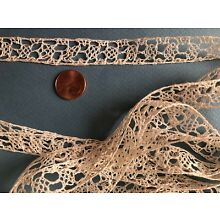 Handmade bobbin lace in the style of 17th C. Insert yardage - costume, craft