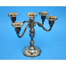 Godinger Silver Art Company Silver Plated Candelabra for 5 candles