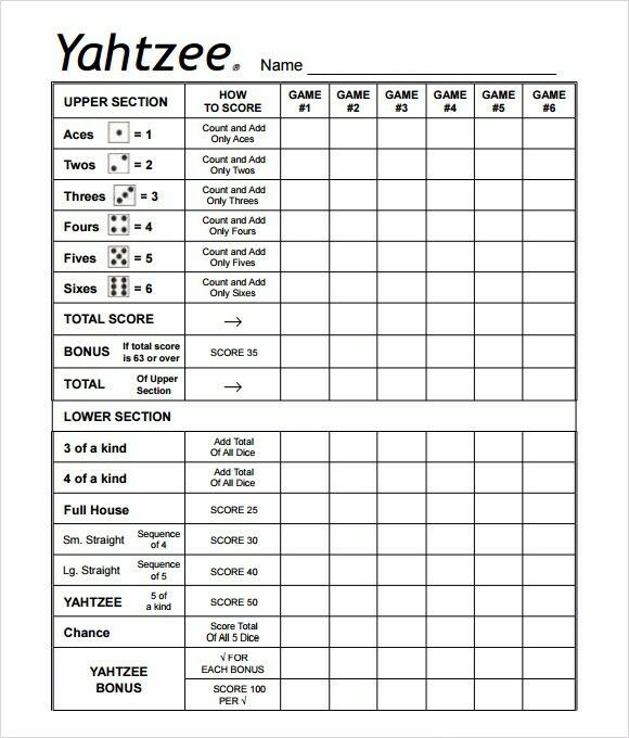 Magic image intended for printable yahtzee score pads