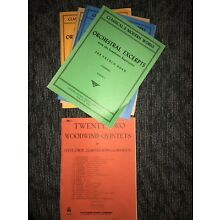 large selection of french horn books and solos (12), mostly unused