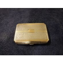 Sterling Silver WITH 14K Yellow & Rose Gold Cigarette Case  c1920 B&S