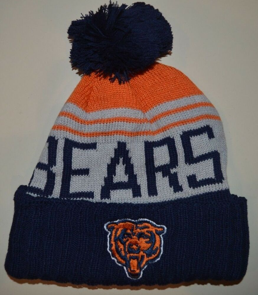 Details about Chicago Bears winter hat one size knit beanie Khalil Mack  Mitch Trubisky c36e9e03d01