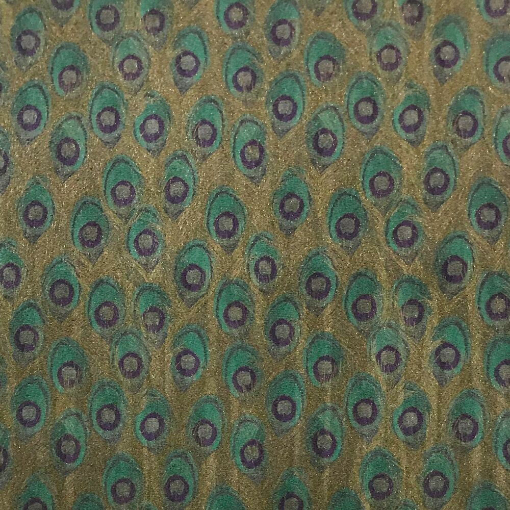 Wallpaper Peacock Textured Wall Coverings Rolls Faux