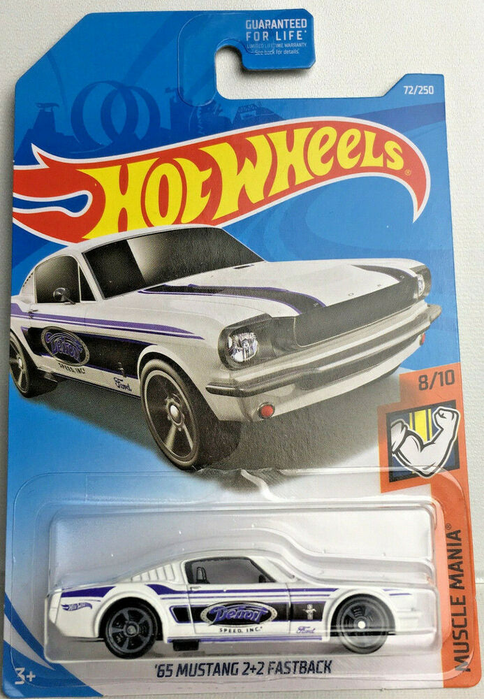 2019 hot wheels 65 ford mustang 2 2 fastback muscle mania diecast car ebay