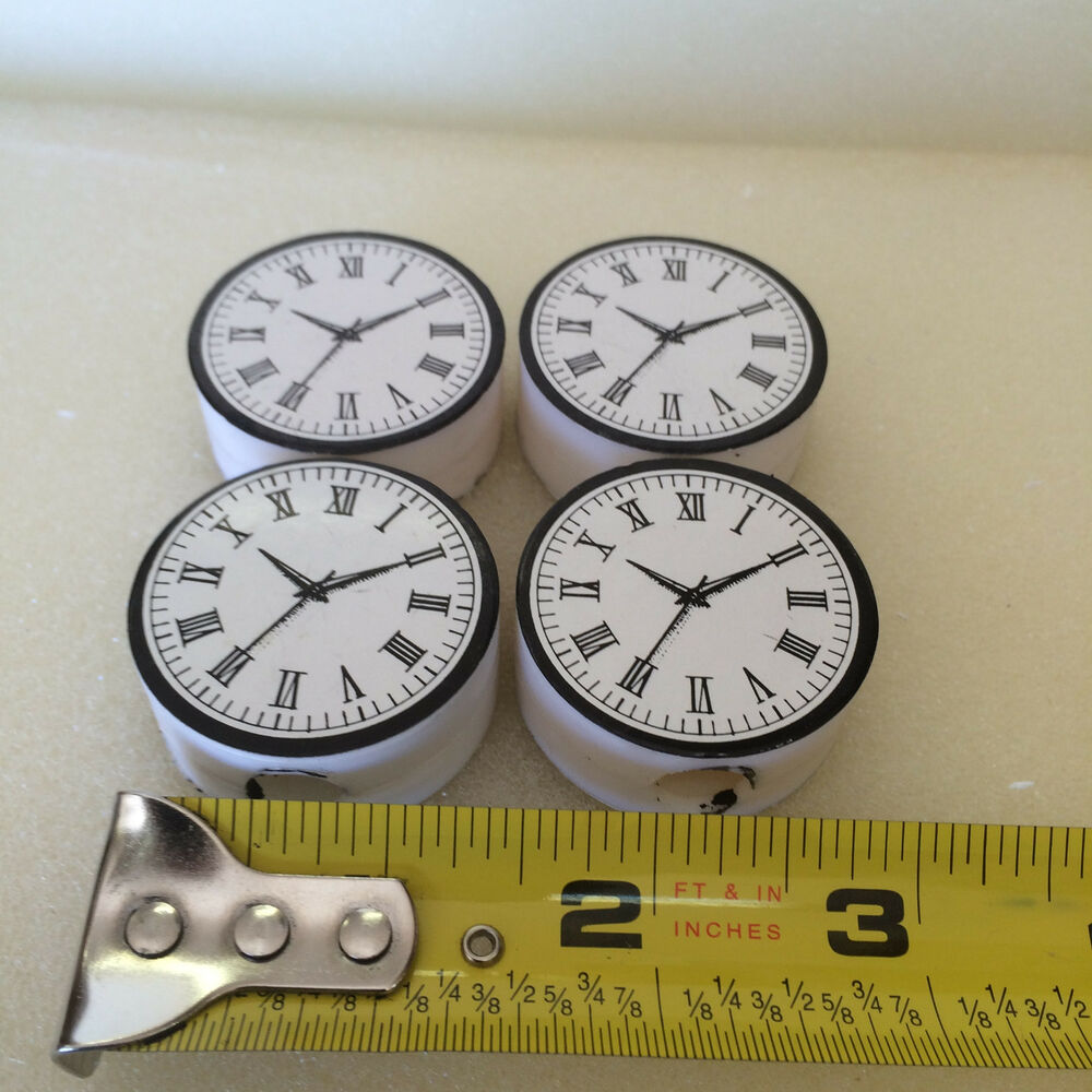 Details About 4 G Scale Station Or Building Clock Faces Can Be LightedMount On Wall Pole NEW