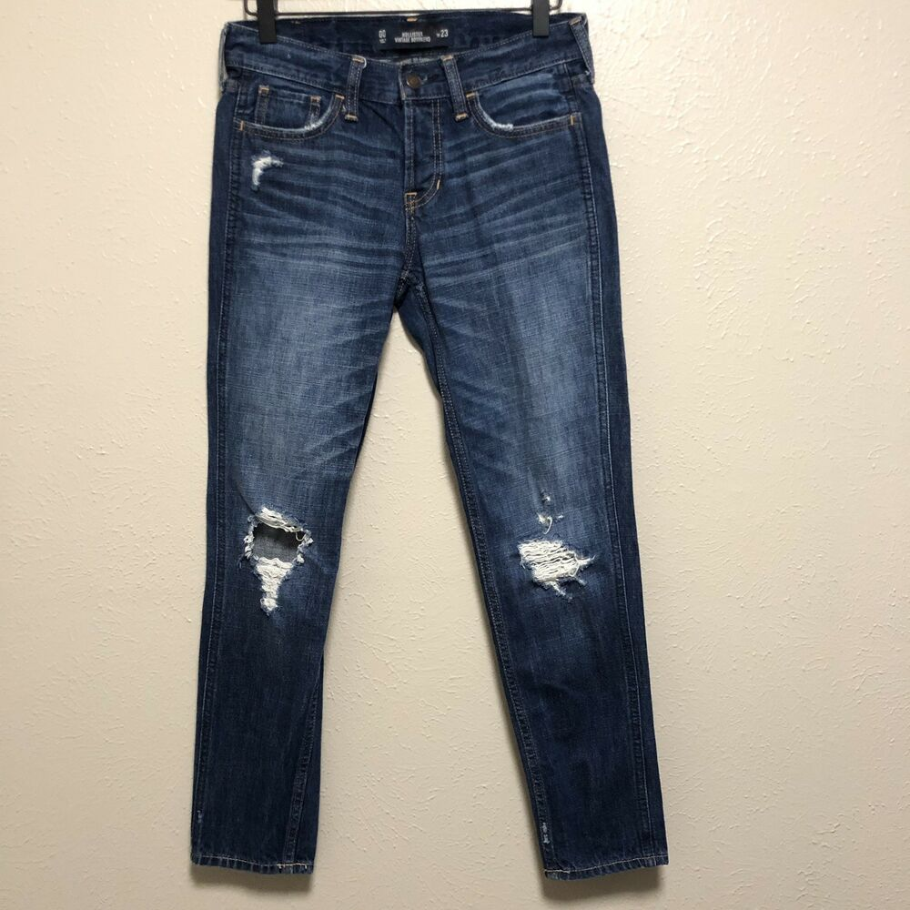 2eaf029450 Details about Hollister Womens Vintage Boyfriend Jeans Distressed size 00  Or 23