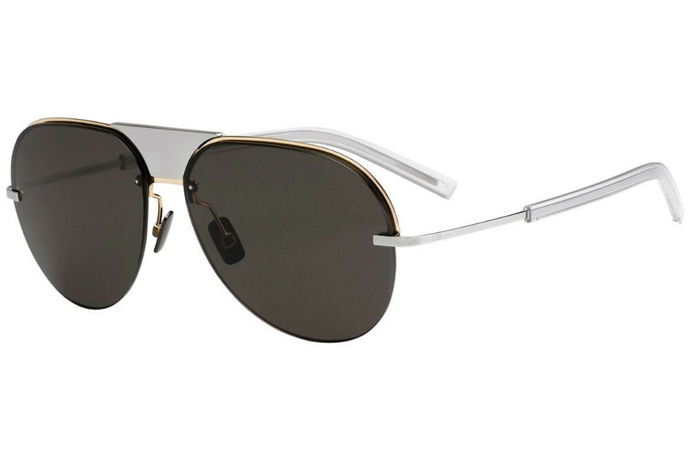 99c15a4842 Details about RARE NEW Christian DIOR Mens SCALE 1 Titanium Gold Aviator  Sunglasses M1B NR