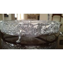 Antique Sterling Silver Footed Serving Basket Engraved with 27 Putti !!!