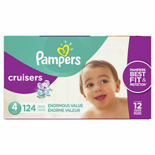 Pampers Cruisers Diapers Size 4 124 Count