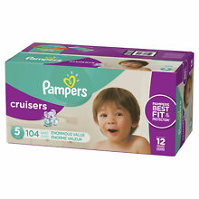 Pampers Cruisers Diapers Size 5 104 Count