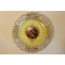 BEAUTIFUL MEISSEN ANTIQUE RETICULATED PLATE 19TH CENTURY