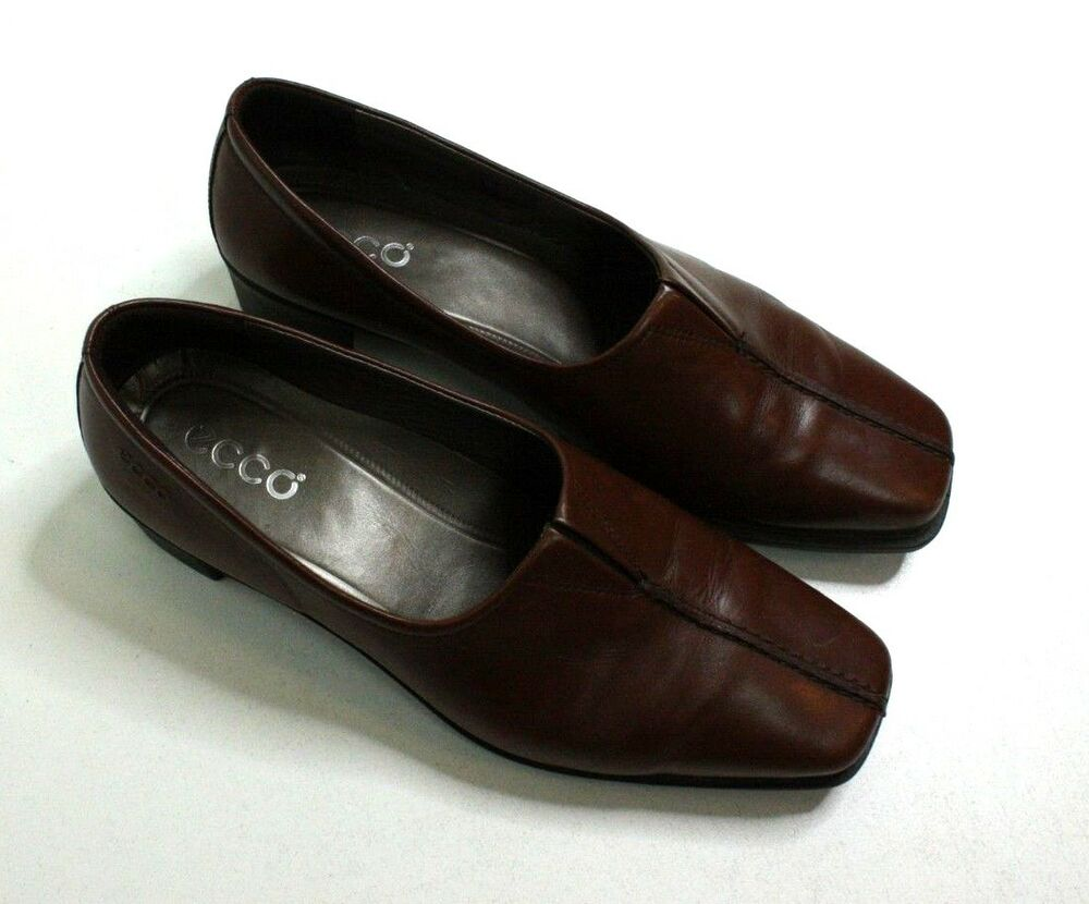 1a250eee204 Details about Ecco Womens Shoes Brown Leather Slip On Loafer Comfort Size  EUR 37 US Size 6 6.5