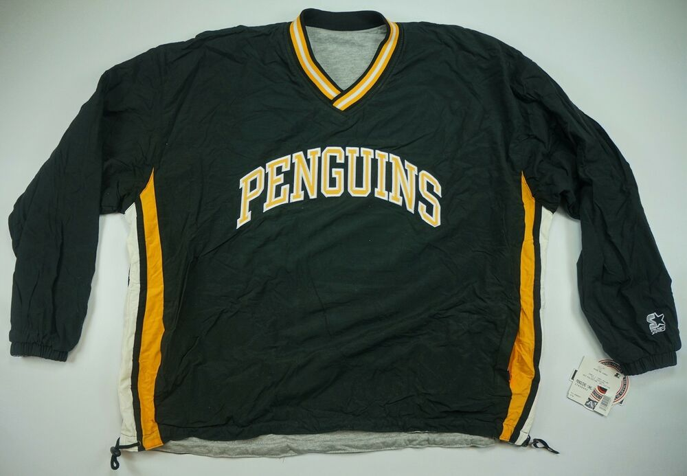 Details about Rare VTG STARTER Pittsburgh Penguins Reversible Pullover Golf  Jacket 90s NWT XL 8669f6b2c