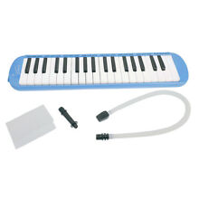 Keyboard Harmonica Melodion 37 key with Soft Case for Beginner Blue
