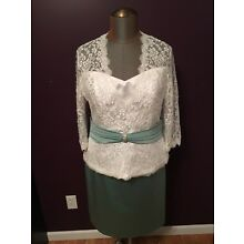 Alfred Angelo Mother of the Bride Groom Formal Dress Womens Size 12 16 Green