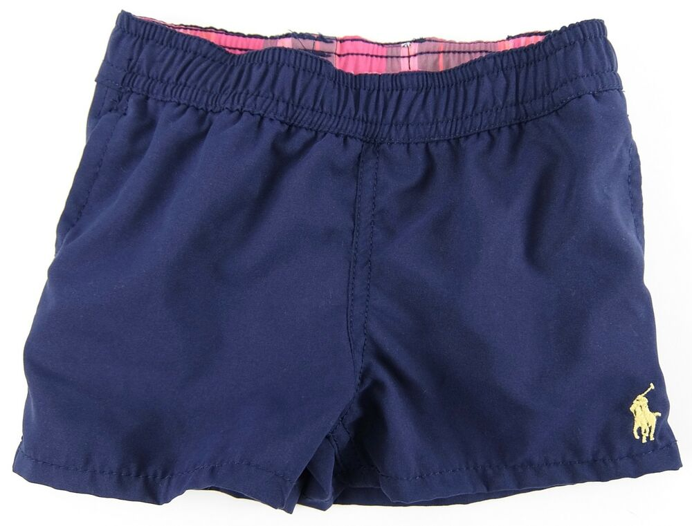 a319017c2deb99 Details about Polo Ralph Lauren Boys Swim Shorts Trunks Blue Yellow Pony  Lined Size 6 Months